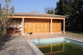 När poolen ännu var ett tillhåll för traktens grodor i mars 2012.
