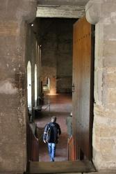 På väg in i påvens gemak