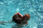 …badade bara motvilligt