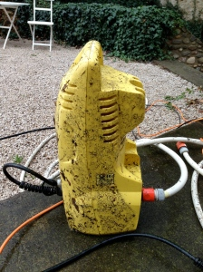 Även tvättmaskinen tarvade rengöring efteråt...