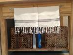 Små gästhanddukar från Korggubben på Tjörn och korgar från IKEA