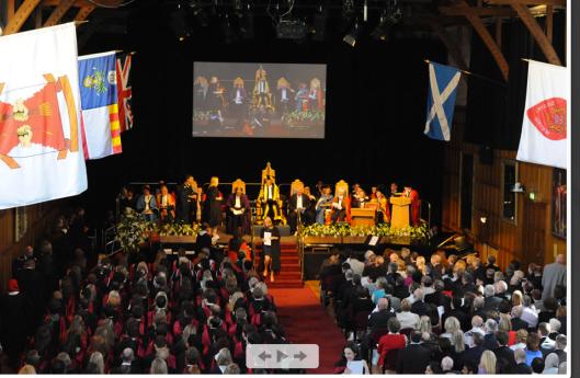 Examensceremoni, Aberdeen University förra året