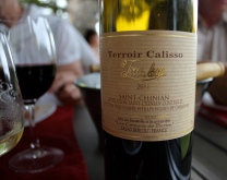 med de rätta tillbehören, förstås. Det vita vinet till förrätten var också gott men etiketten gjorde sig inte på bild.