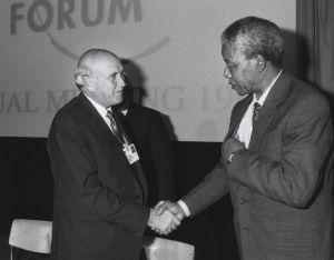 Nelson Mandela och F.W deKlerk 1992