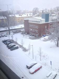 snö i mars...