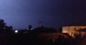 blixtrande himmel