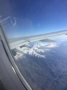 Praktfulla Pyrenéer under flygplansvingen!
