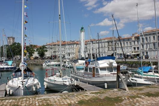 En fin gammal Grand Banks i hamnen