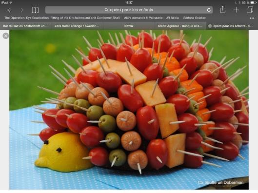 Igelkott på melonbas, till exempel...