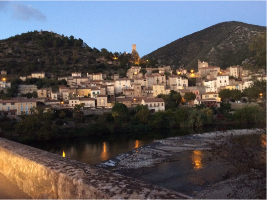 roquebrun-by-night