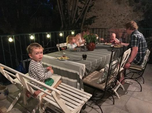 Middag al fresco!